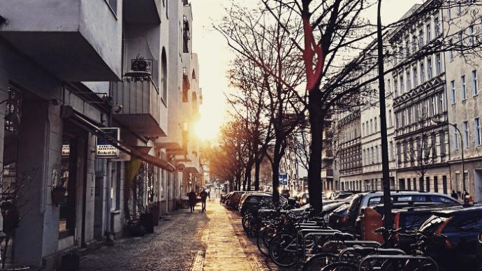 Goldene Stunde in Charlottenburg, Berlin