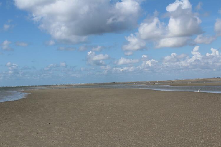 Endloser Strand bei Ebbe auf Fanoo