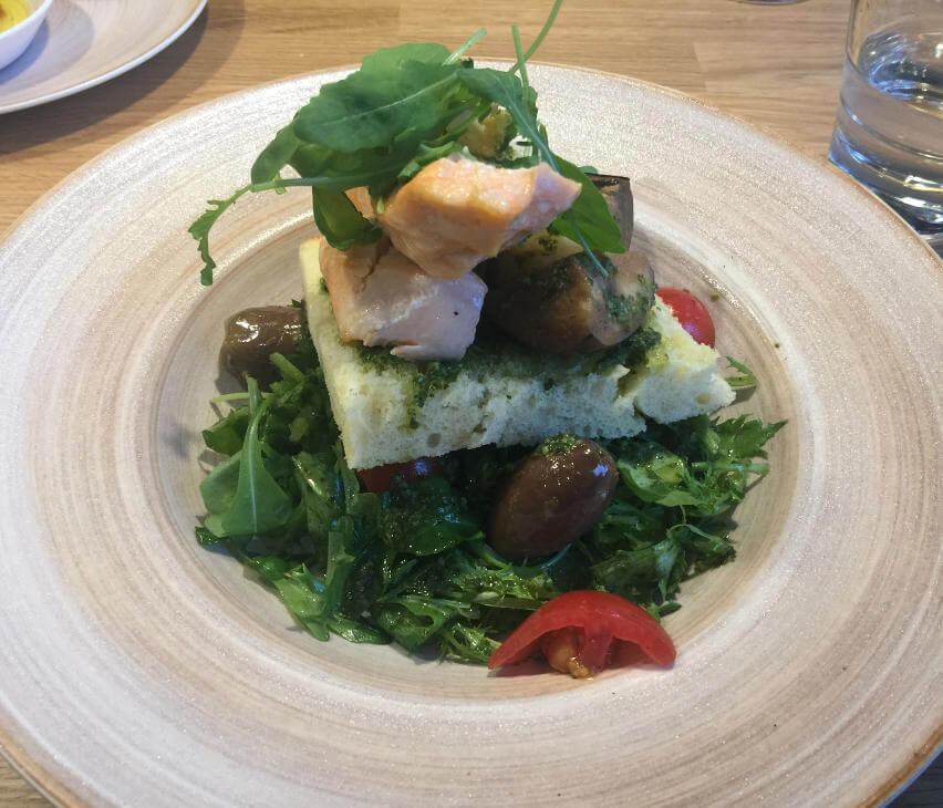 Lachs-Shrimp Sandwich Puisto Tampere