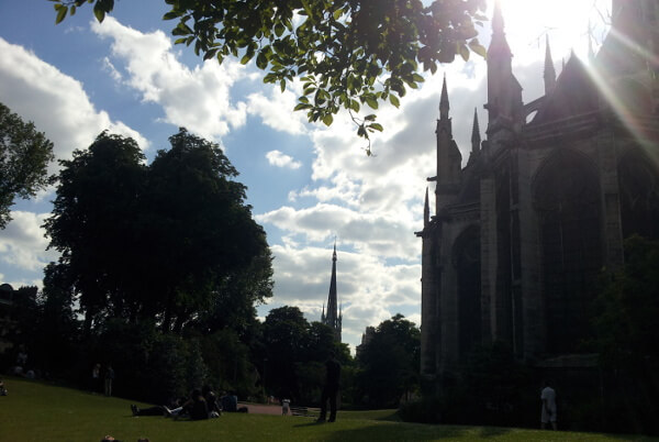 Katherdrale St. Ouen mit Park in Rouen