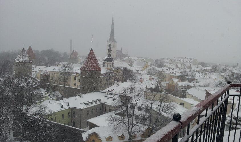 Blick von Festung auf Stadt