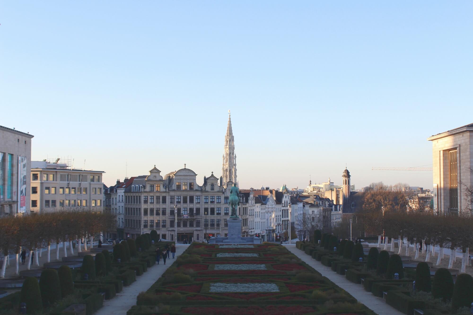 Blick vom Mont des Arts in Brüssel