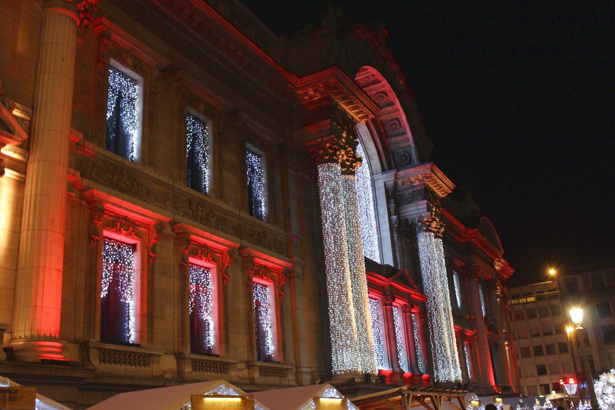 Weihnachtsbeleuchtung in Brüssel