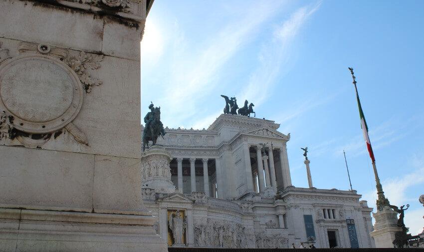 Blick auf das Monomento di Vittorio Emanuele II