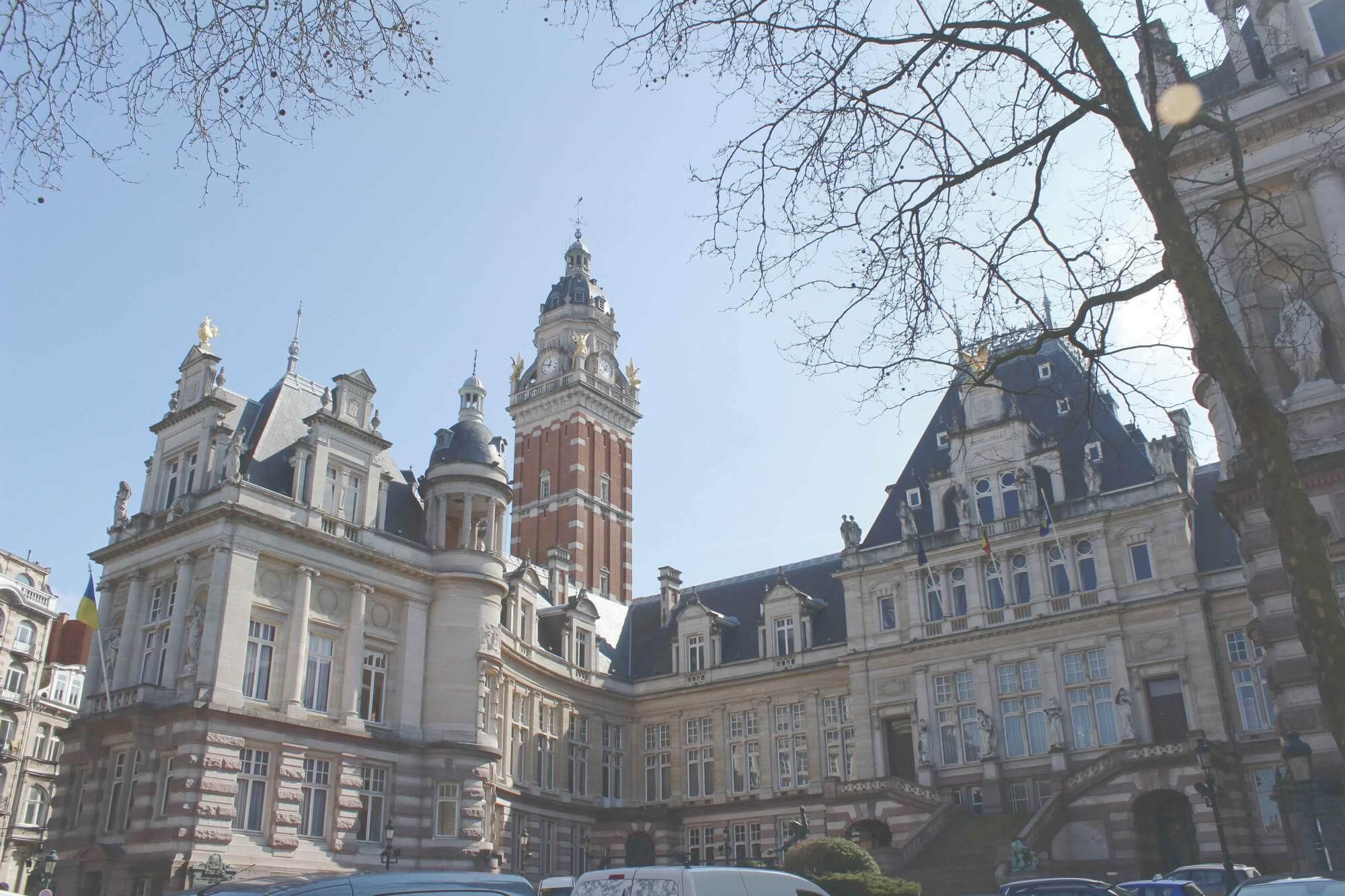 gotisches Rathaus des Stadtteils Saint Gilles in Brüssel, Belgien