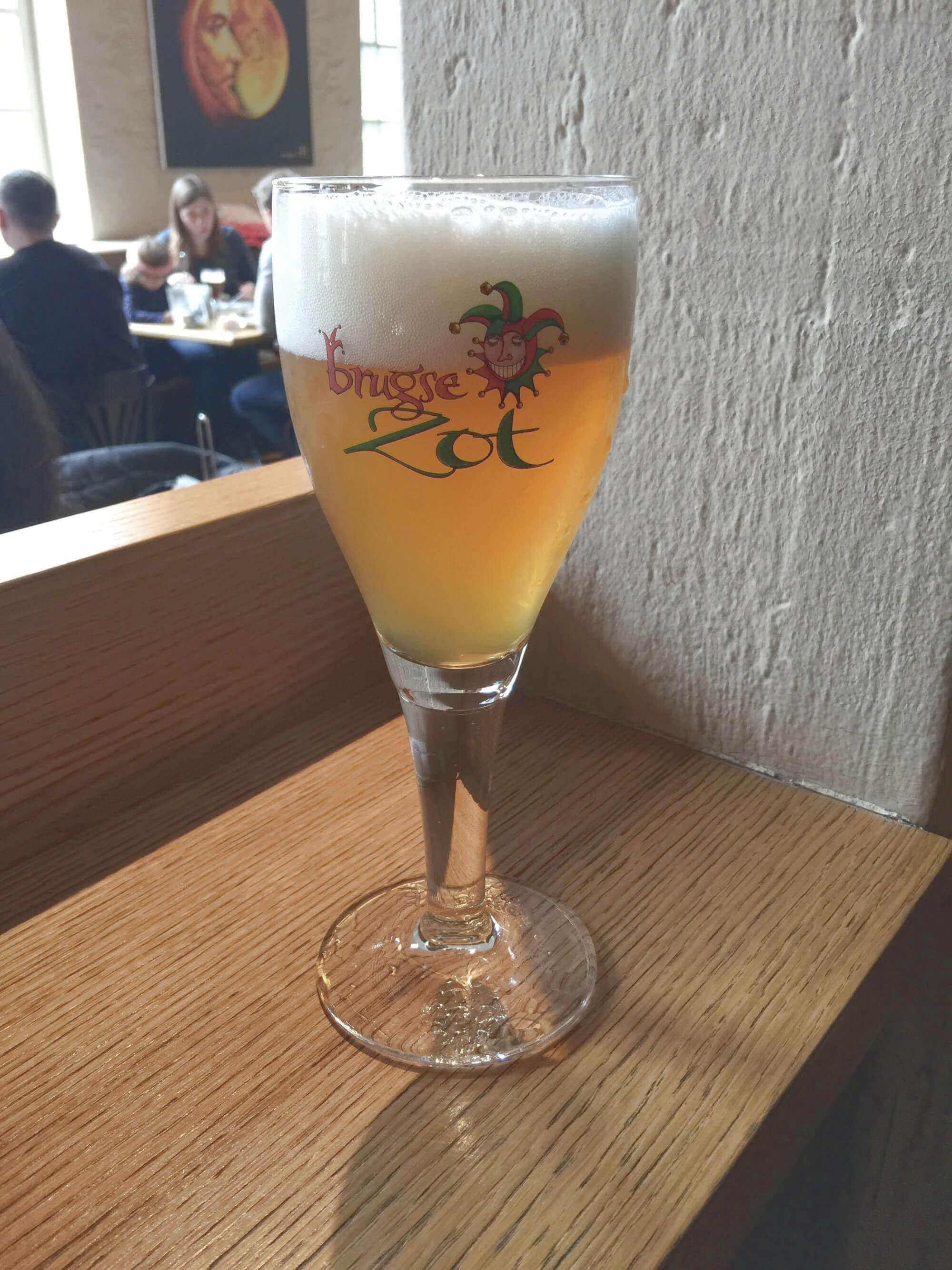 Bierverköstigung in Brauerei De Halve Maan in Brügge