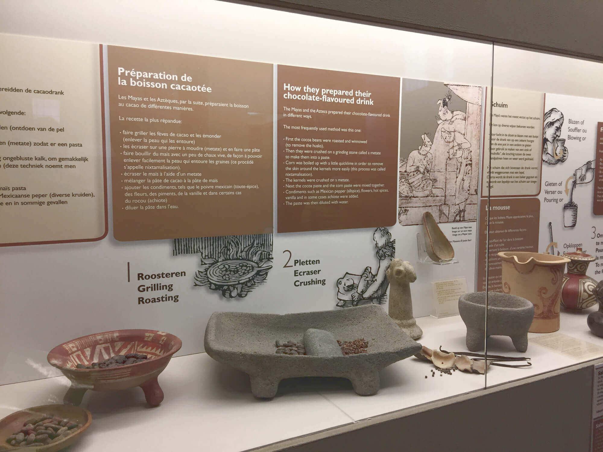 Ausstellung zur Geschichte der Schokolade im Brüggener Schokoladenmsuem