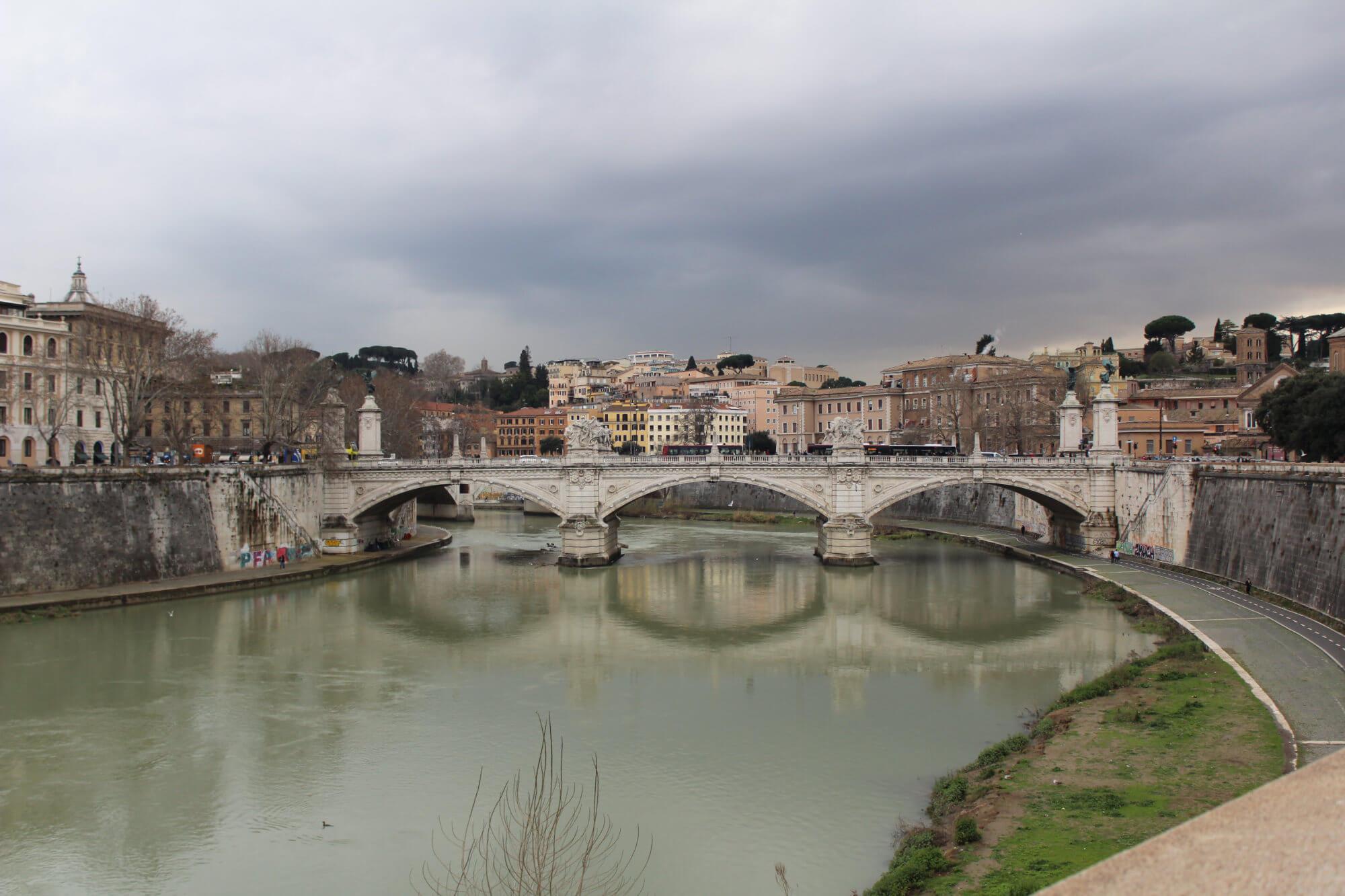 Instagram-Spot Rom: Blick von der Engelsburg