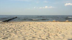 Blick auf den Strand in Bad Bansin auf Usedom