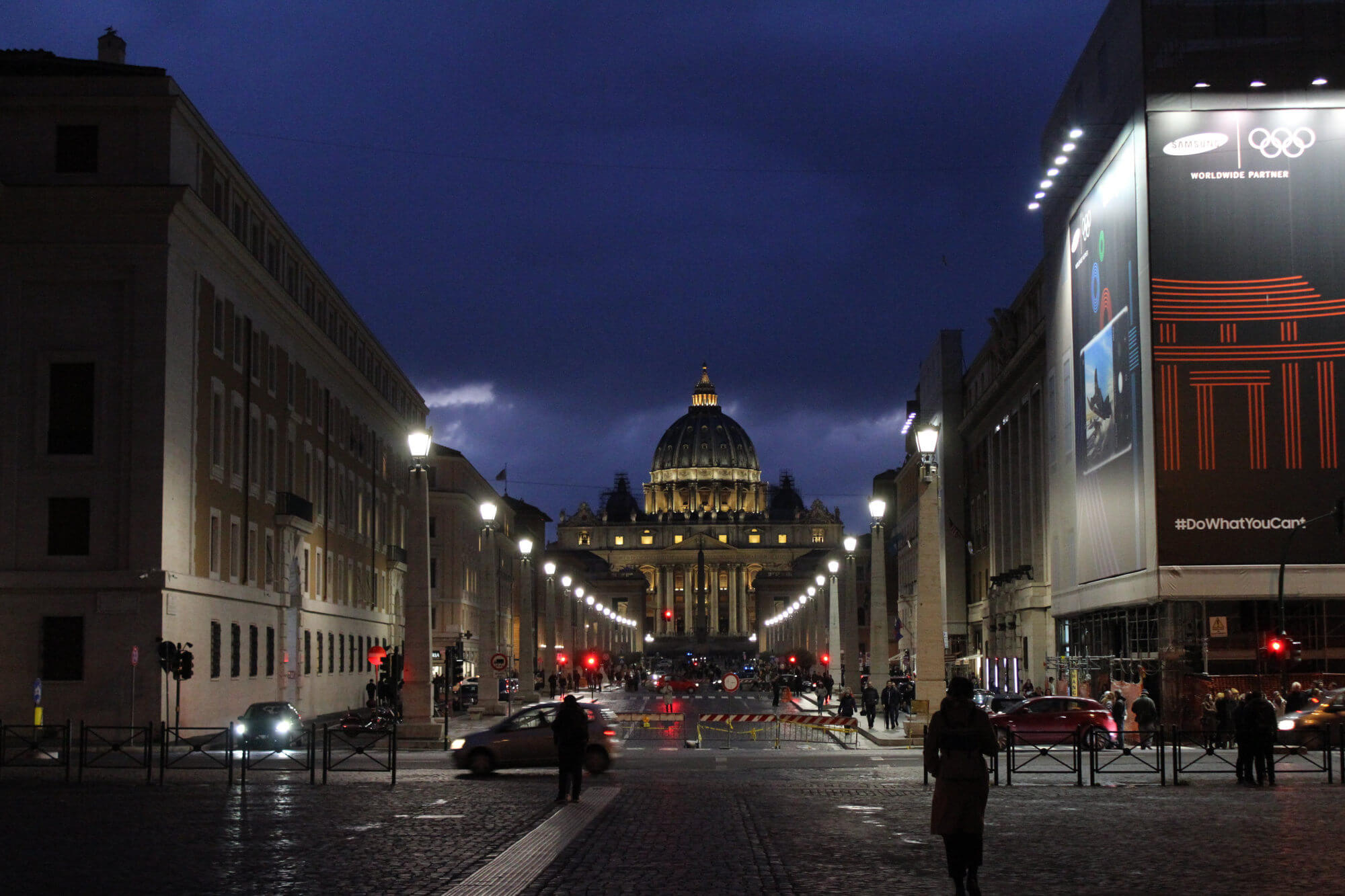 Instagram-Spot Rom: Blick auf den Vatikan bei Nacht