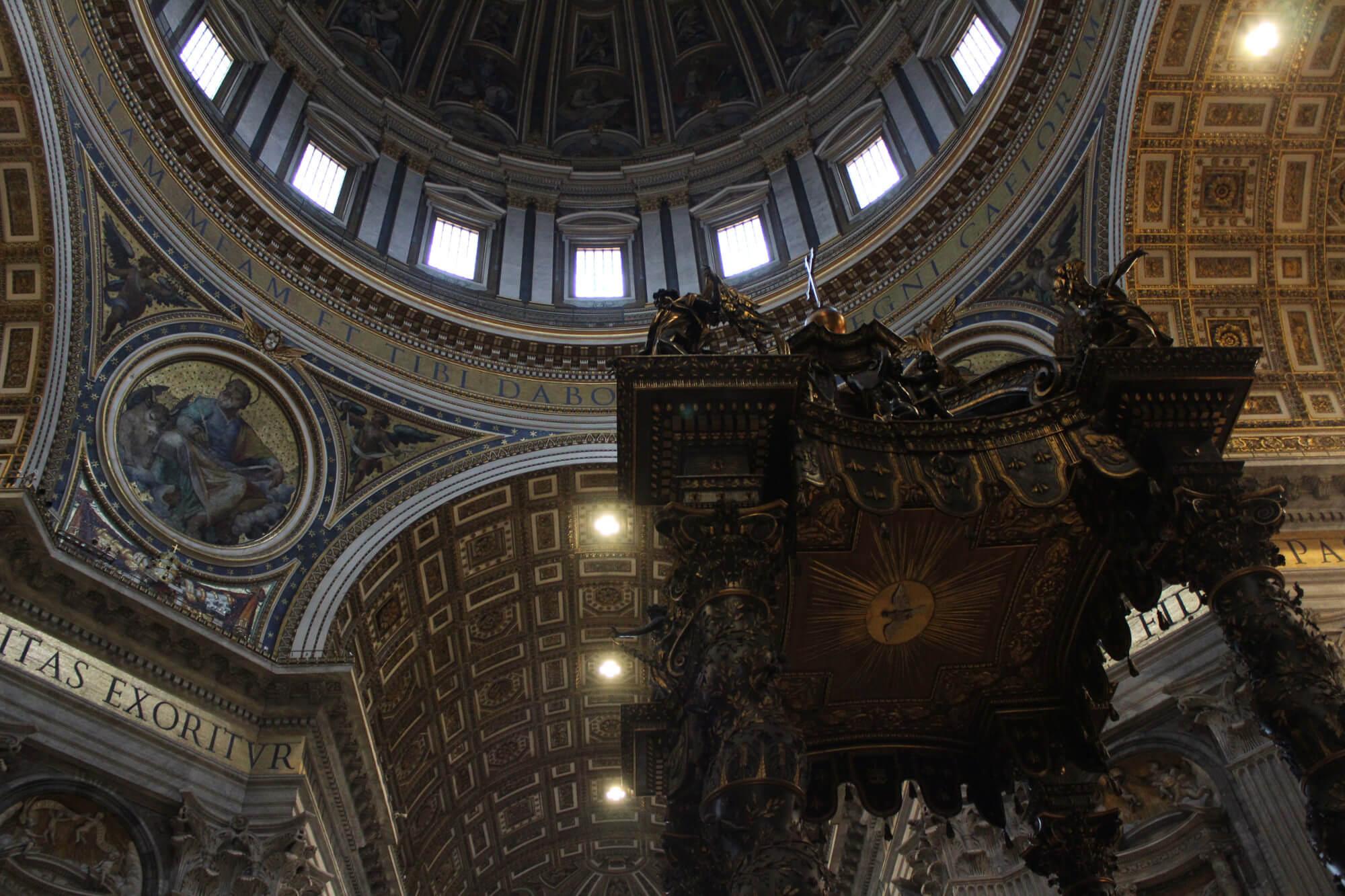 Instagram-Spot Rom: Petersdom von innen
