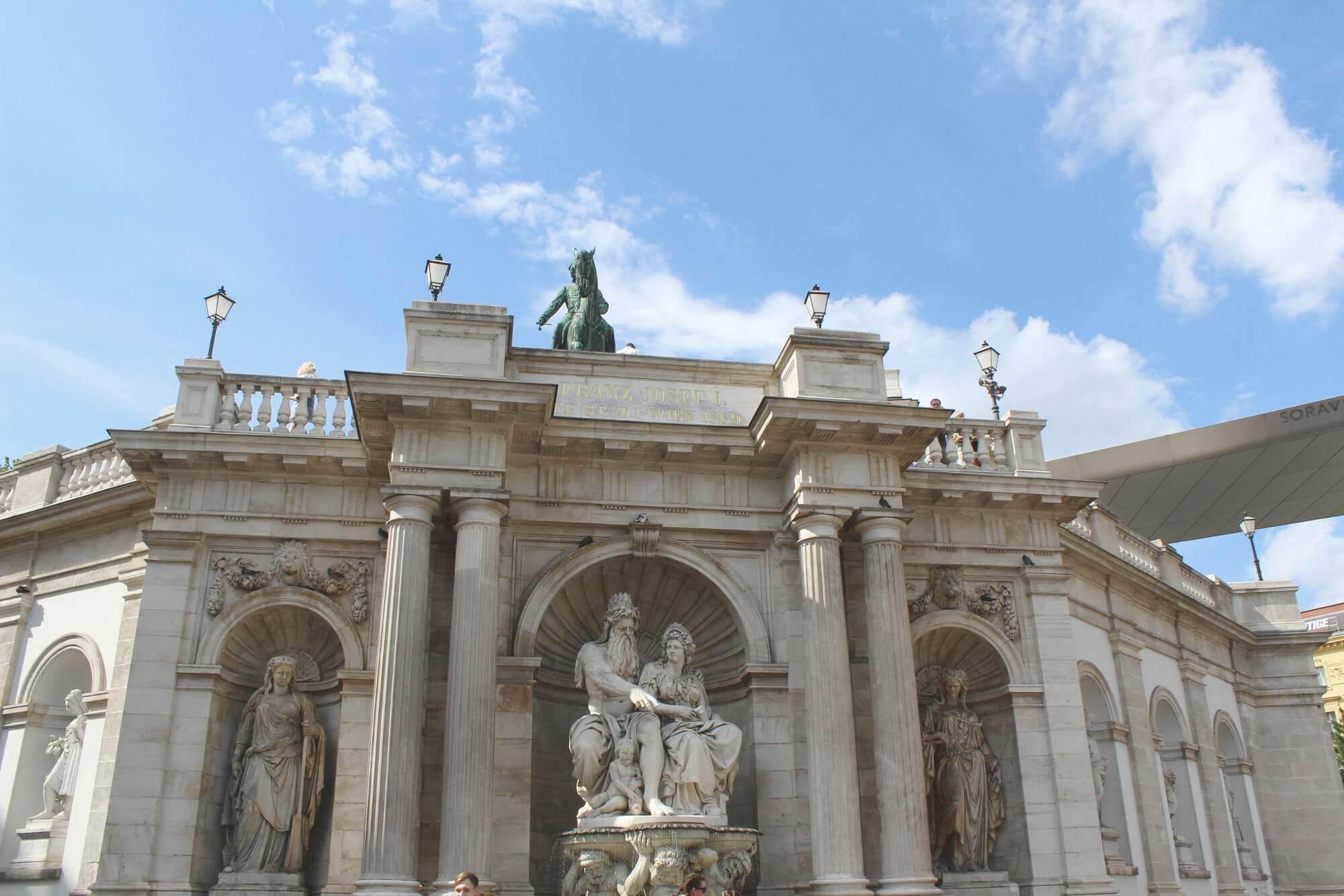 Blick auf Museum Albertina in Wien