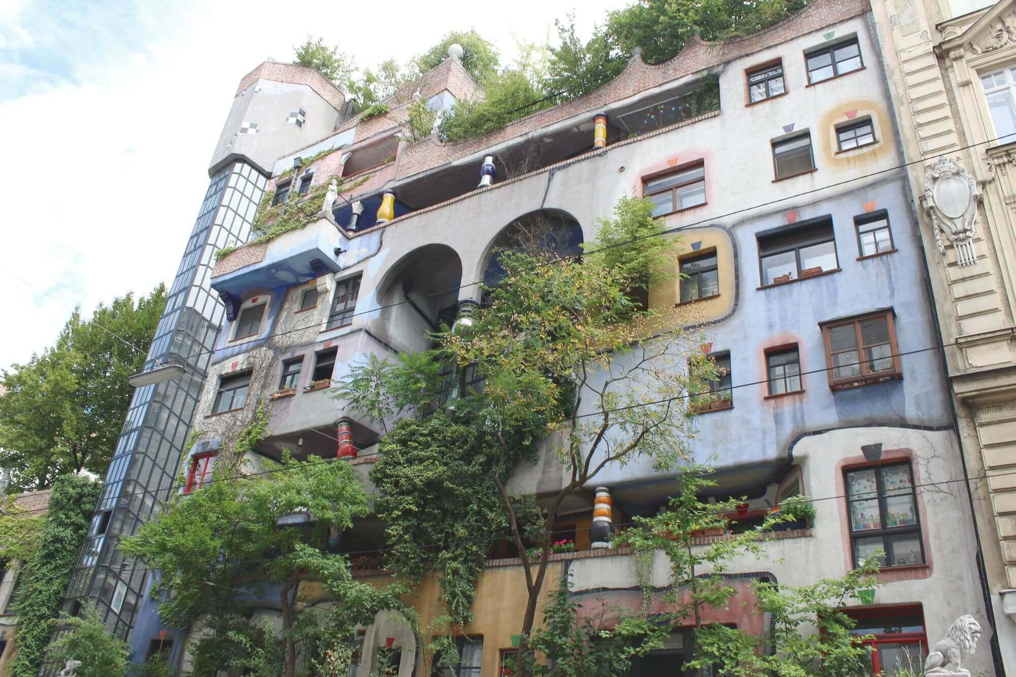 Hundertwasserhaus Wien Frontansicht