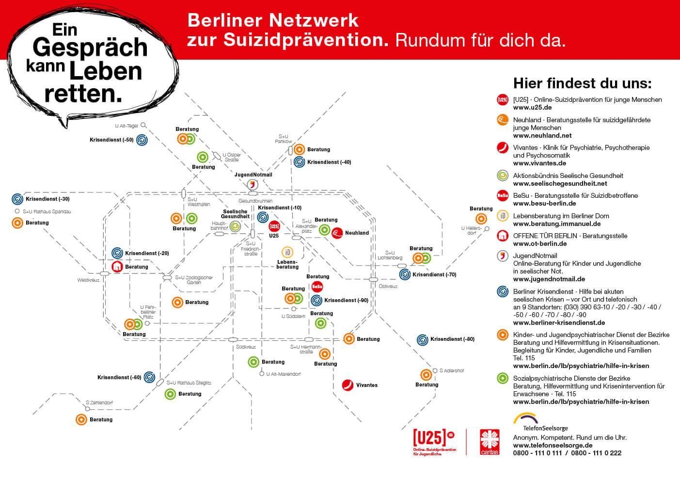 Anlaufstellen Berlin Suizidprävention