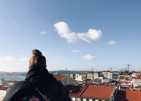 Ausblick über die Dächer Lissabons