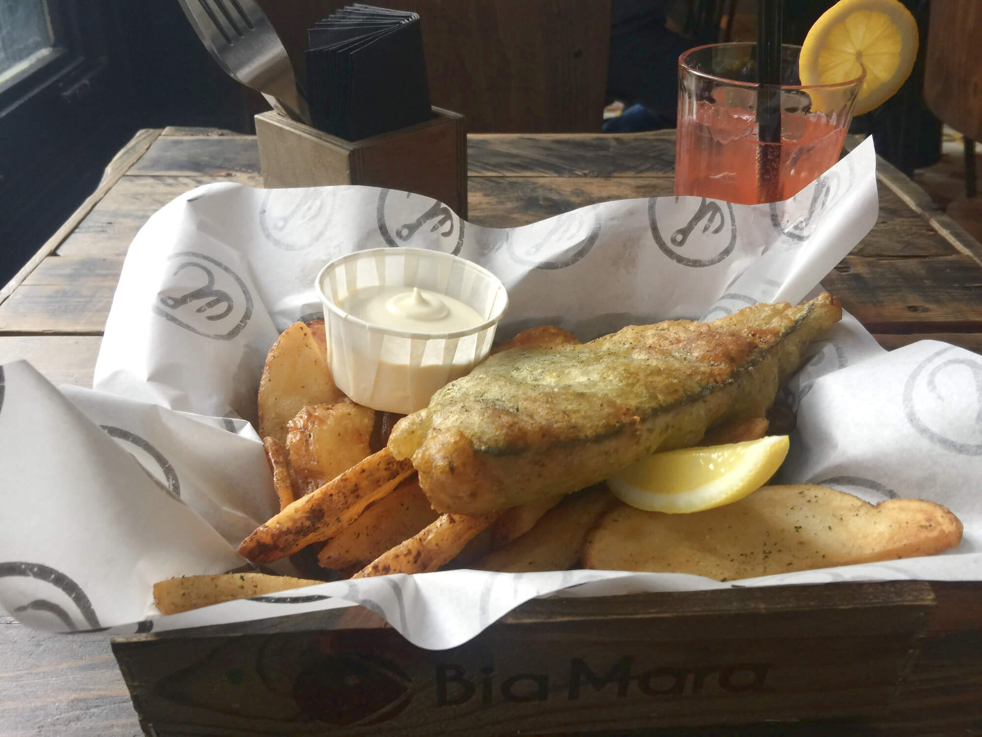 Essen in Antwerpen: Bia Mara - Fish & Chips
