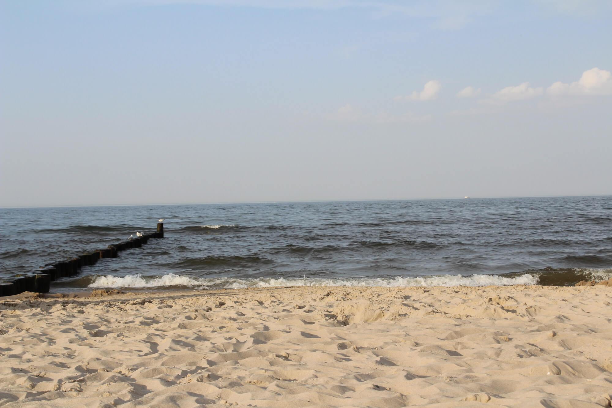 Blick aufs Meer am Strand von Usedom