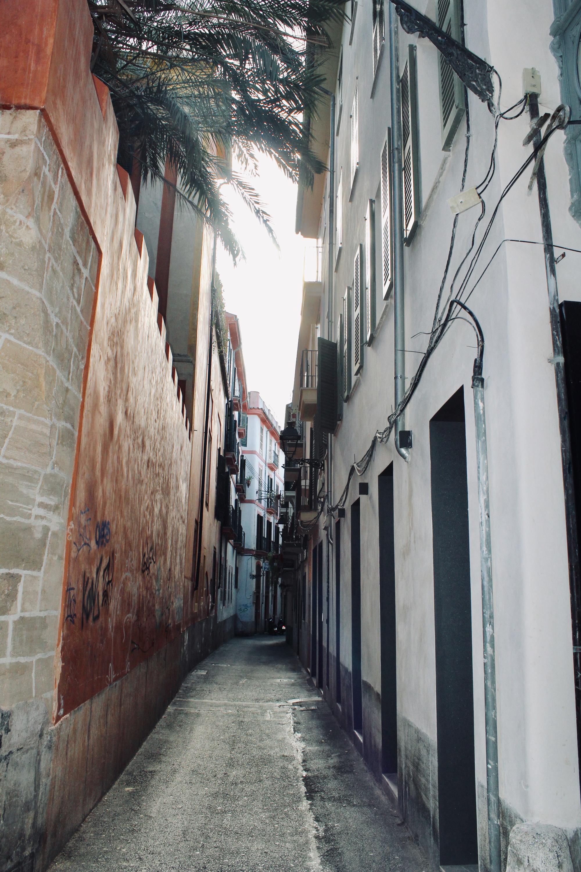 Seitenstraße Palma de Mallorca: Ort für tolle Restaurants auf Mallorca
