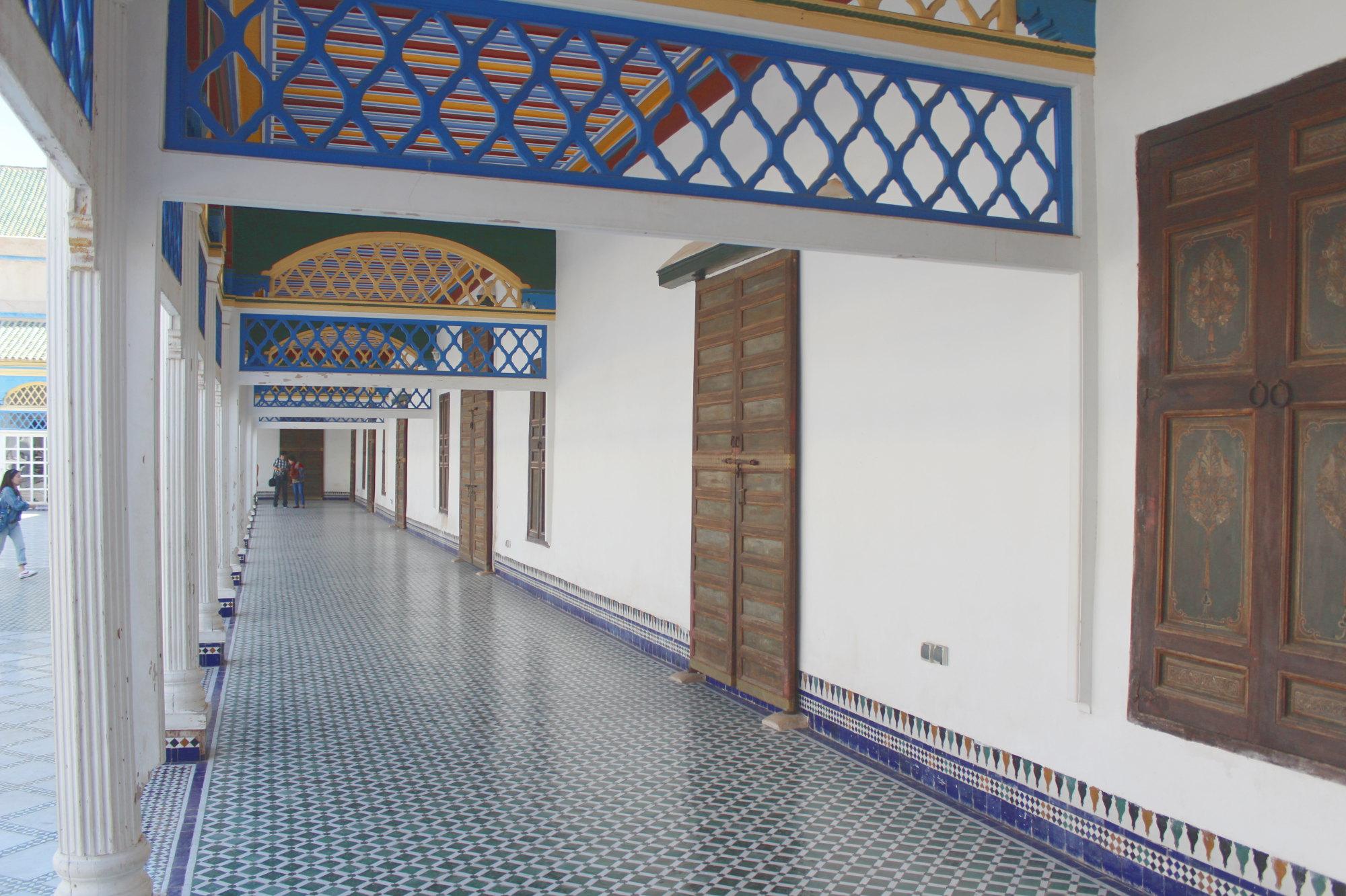 Seitengang im Palais de la Bahia