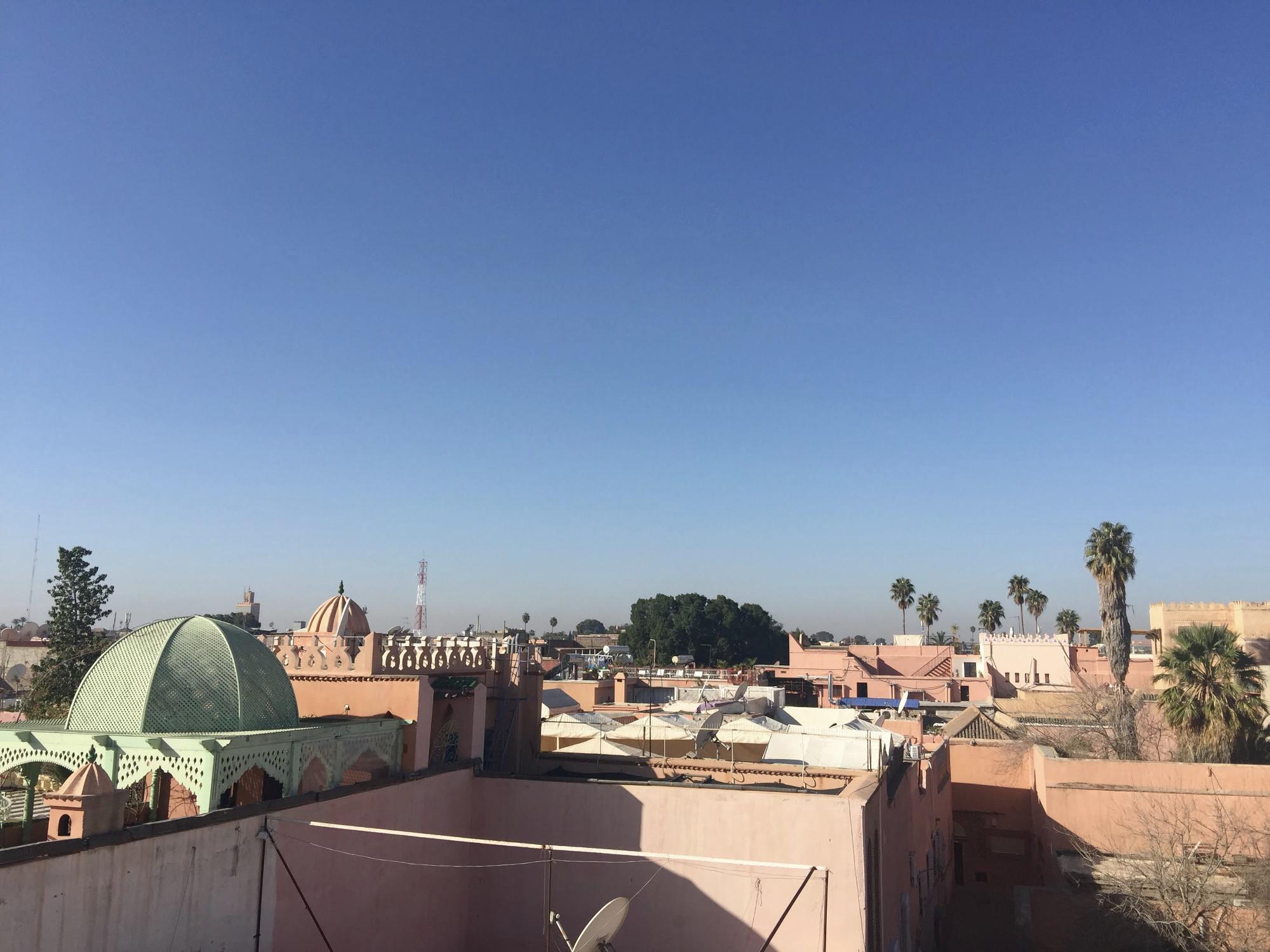 Sehenswürdigkeiten Marrakesch: Ausblick über die Stadt