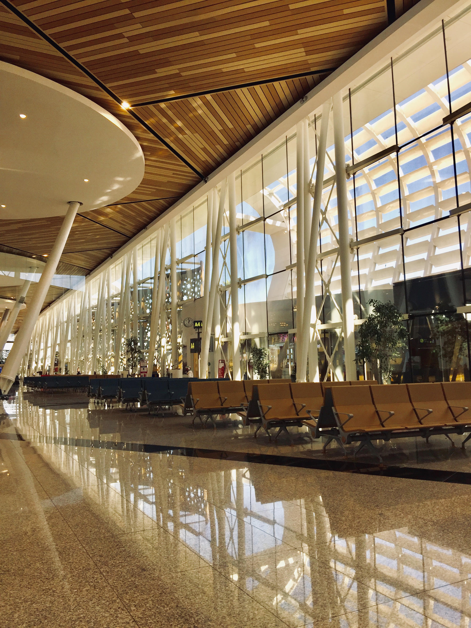 Wartehalle Flughafen Marrakesch