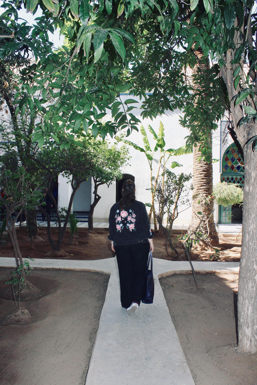 Garten vom Palais de la Bahia, Marrakesch