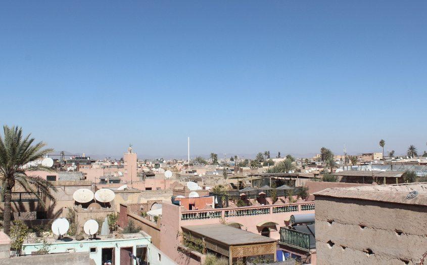 Sehenswürdikeiten Marrakesch: Ausblick über die Stadt