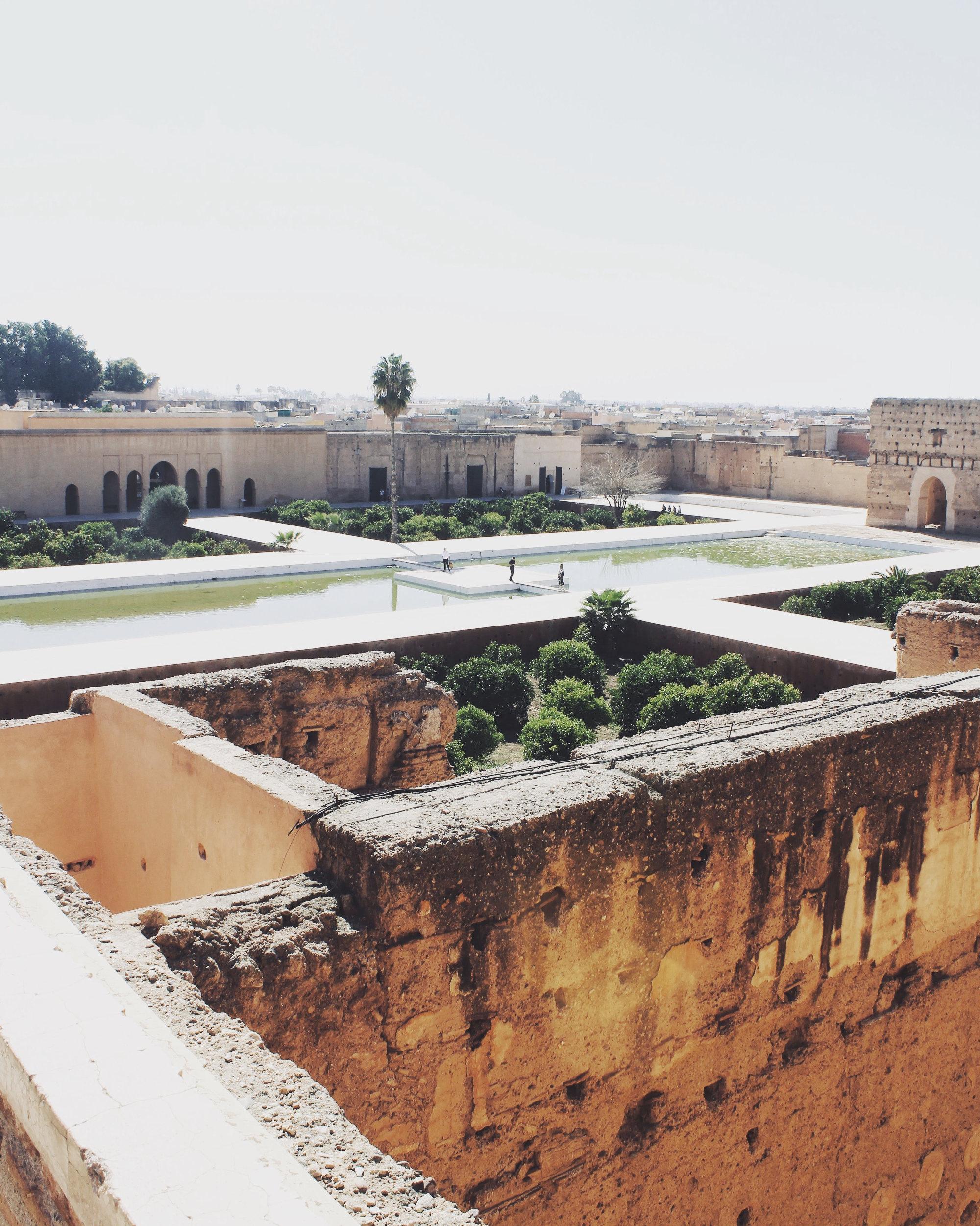 Sehenswürdigkeiten Marrakesch: Palais el Badi Aussicht von Aussichtsturm
