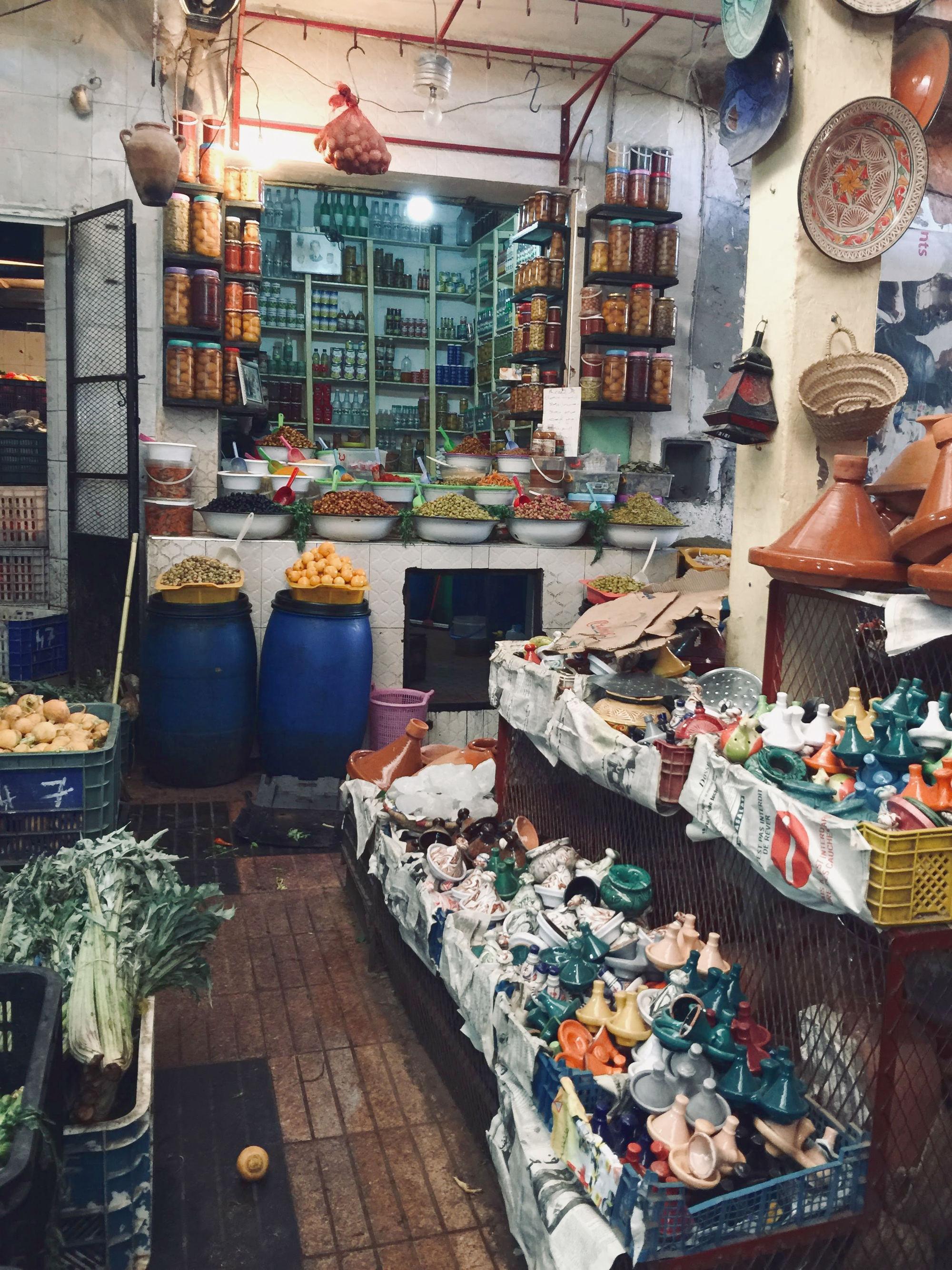 Sehenswürdigkeiten Marrakesch: Souk Lebensmittel