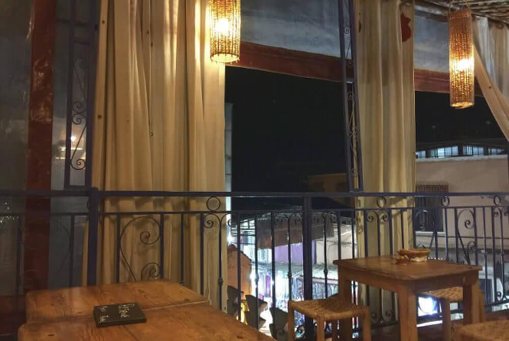Ausblick vom Café Kessabine in Marrakesch, Marokko