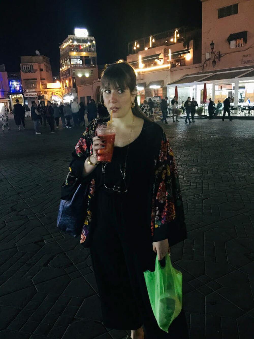 Frischer Saft am Djemnaa el Fna in Marrakesch, Marokko
