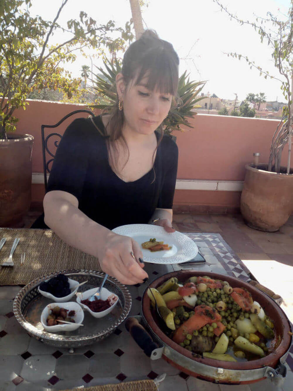 Tajine essen in Marrakesch, Maroko