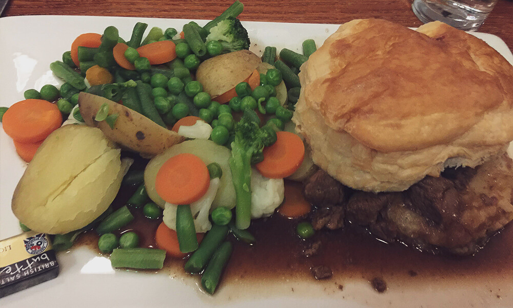 Steakpie im Atholl Arms in Glasgow