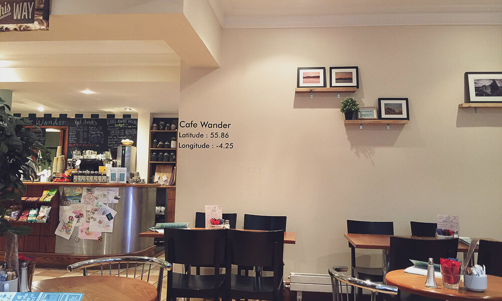 Café Wander in Glasgow