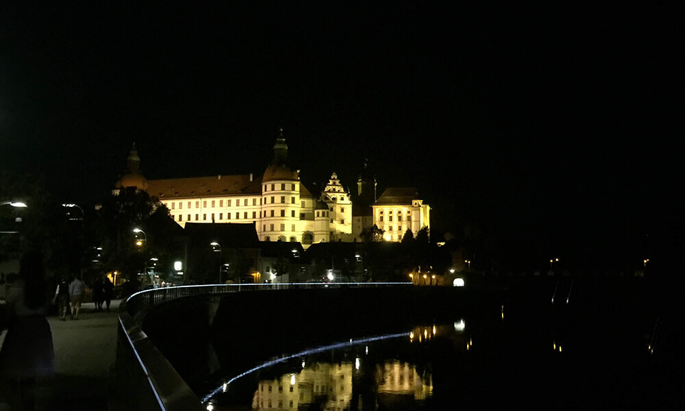 Schloss in Neuburg an der Donau bei Nacht