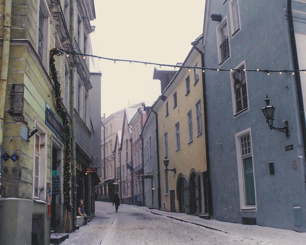 Straße in der Altstadt von Tallinn
