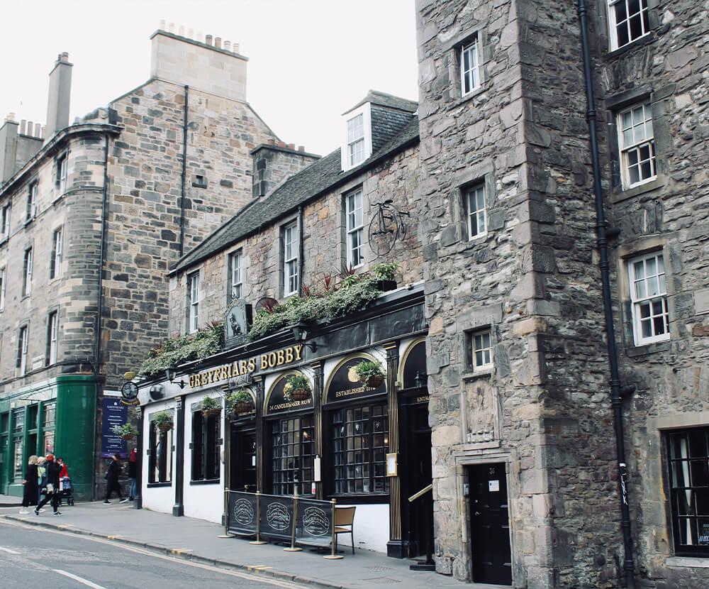 Greyfriars Bobby Pub in Edinburgh, Schottland