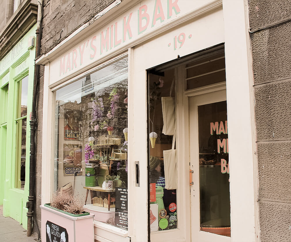 Mary's Milk Bar in Edinburgh, Schottland