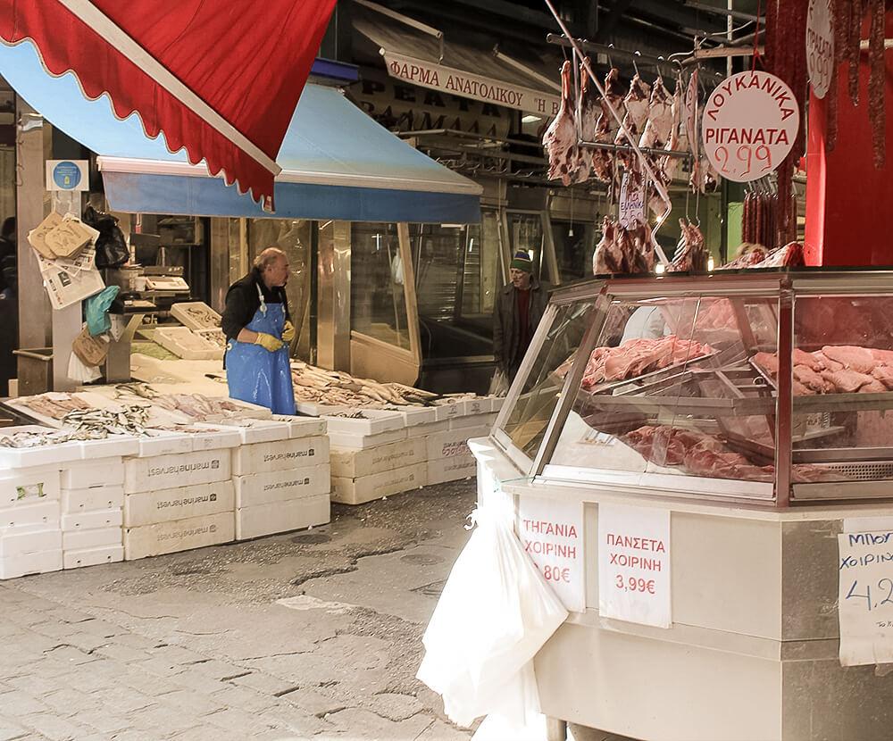 Kapini Markt in Thessaloniki