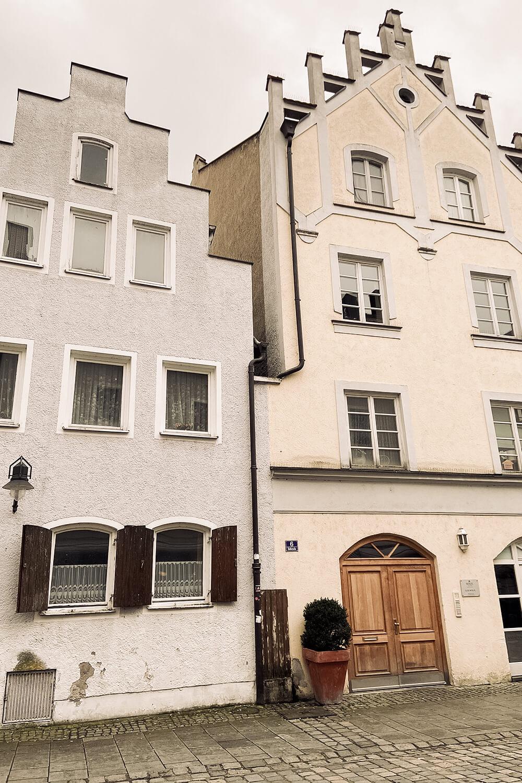 Häuserfassaden Altstadt Ingolstadt