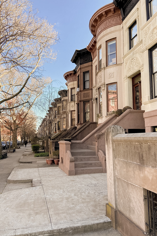 Straße in Park Slope, Brooklyn, New York