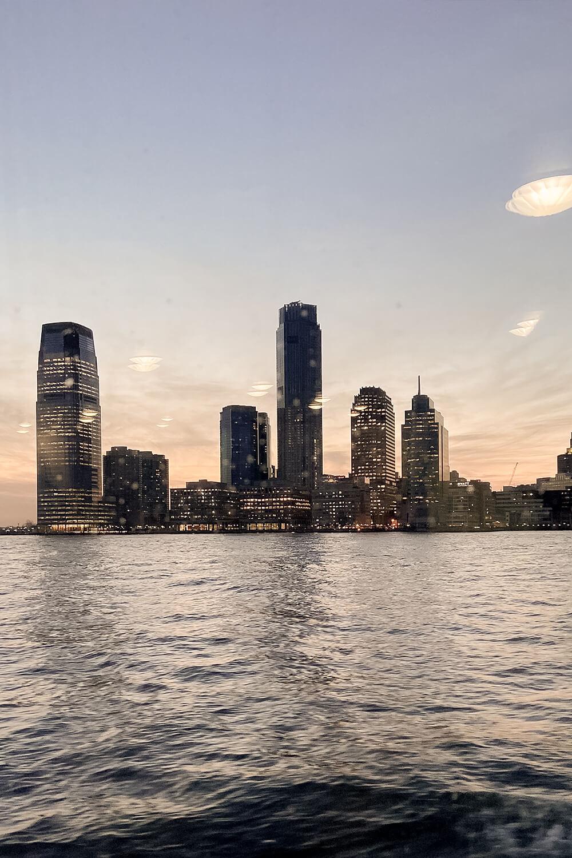 Manhattan Skyline vom Boot aus
