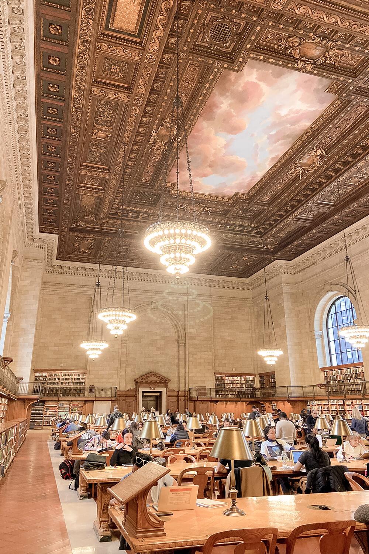 New York Public Library Lesesaal