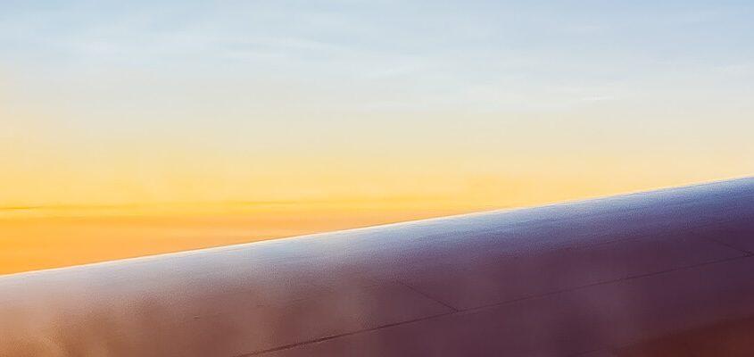 aufgehende Sonne aus Flugzeug