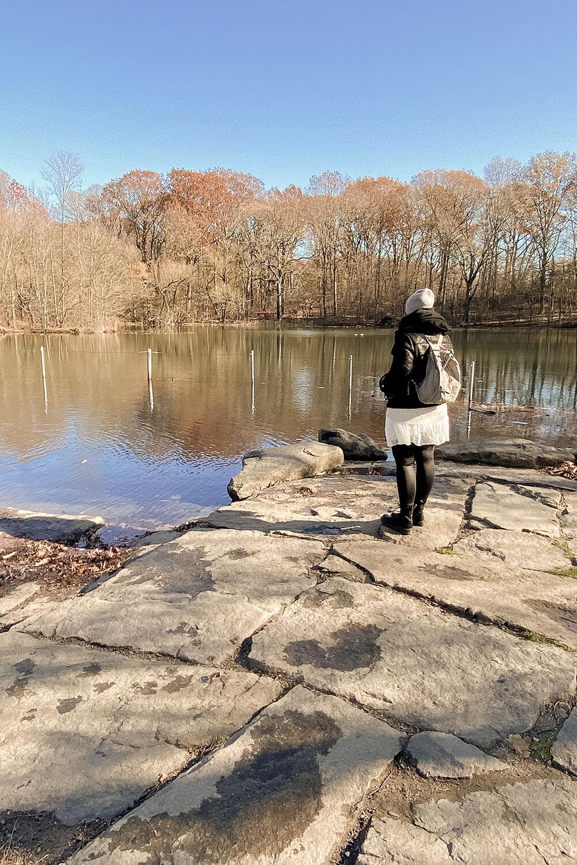 Teich im Prospect Park in Brooklyn, New York