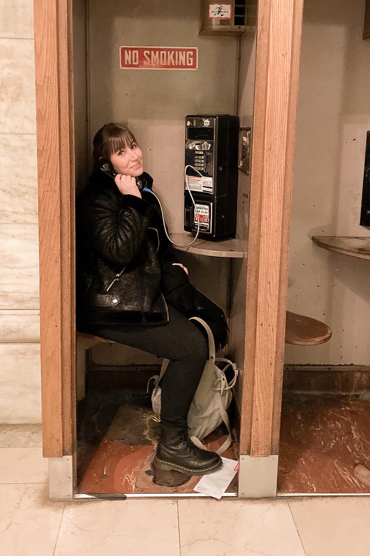 Telefonzelle in der New York Public Library