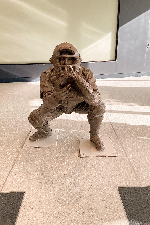 Statue im Yankee Museum in New York