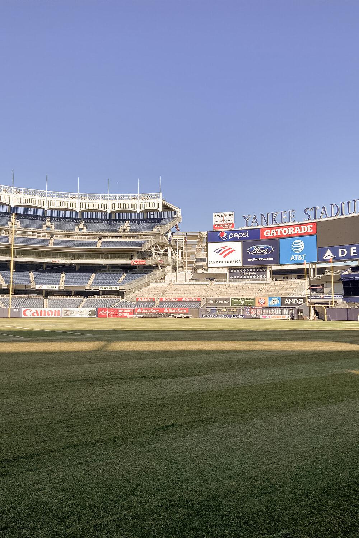 Spielfeld des Yankee Stadiums in New York
