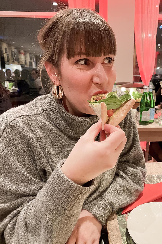 Pizzaverkostung bei Vapiano