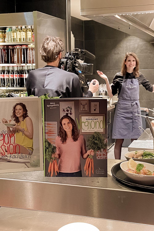 Stina Spiegelberg für Vapiano beim Showkochen